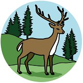 A vector icon of a deer.