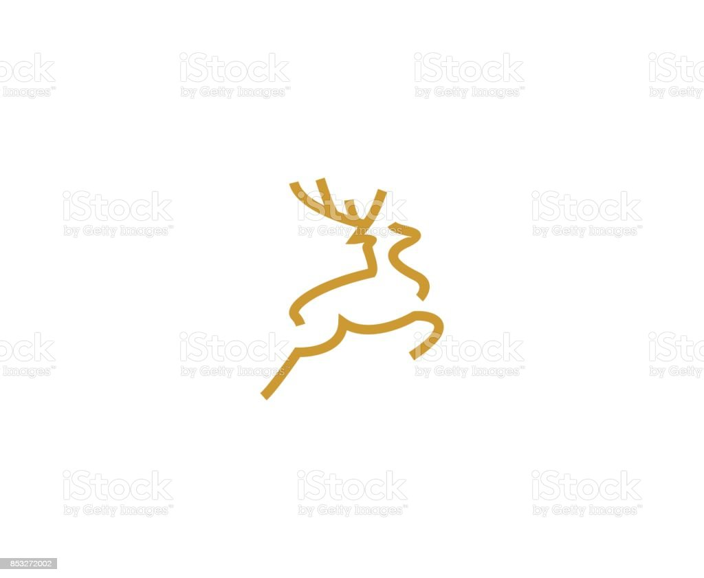 Deer icon vector art illustration