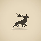 istock Deer icon - vector illustration 1143244985