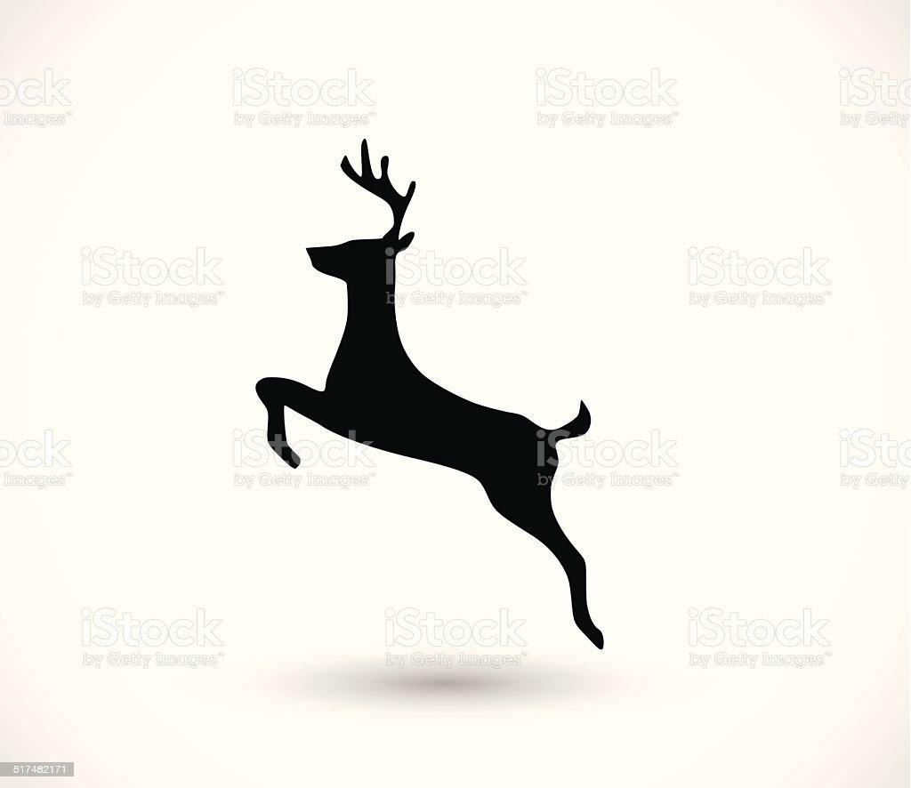 Deer Symbol-VEKTOR - Lizenzfrei Bleistiftzeichnung Vektorgrafik
