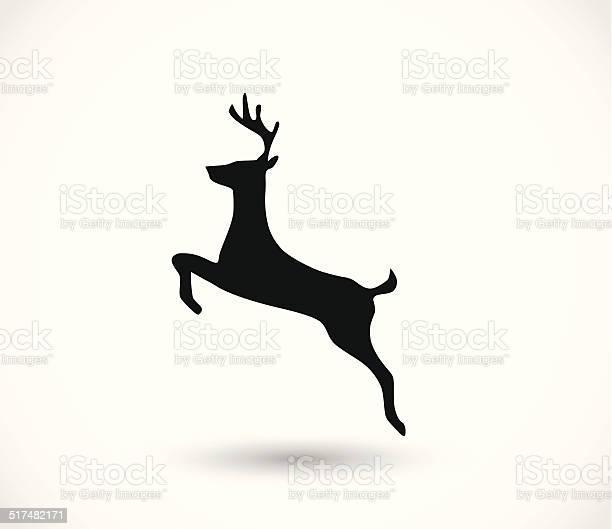 Deer Symbolvektor Stock Vektor Art und mehr Bilder von Bleistiftzeichnung