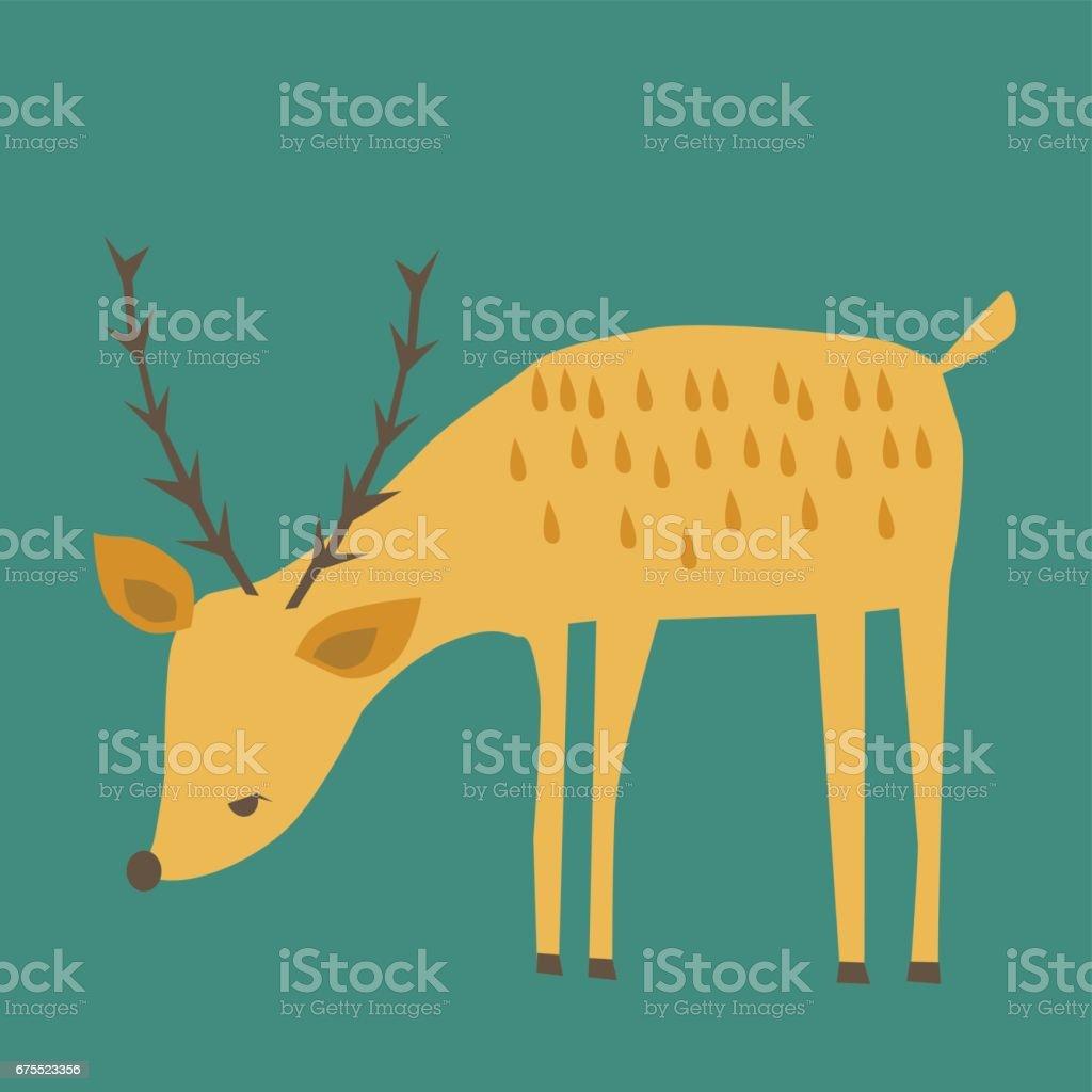 deer illustration vector art illustration