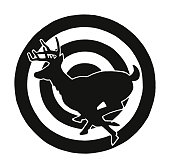 Deer in a Bullseye