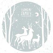 Deer in the frame
