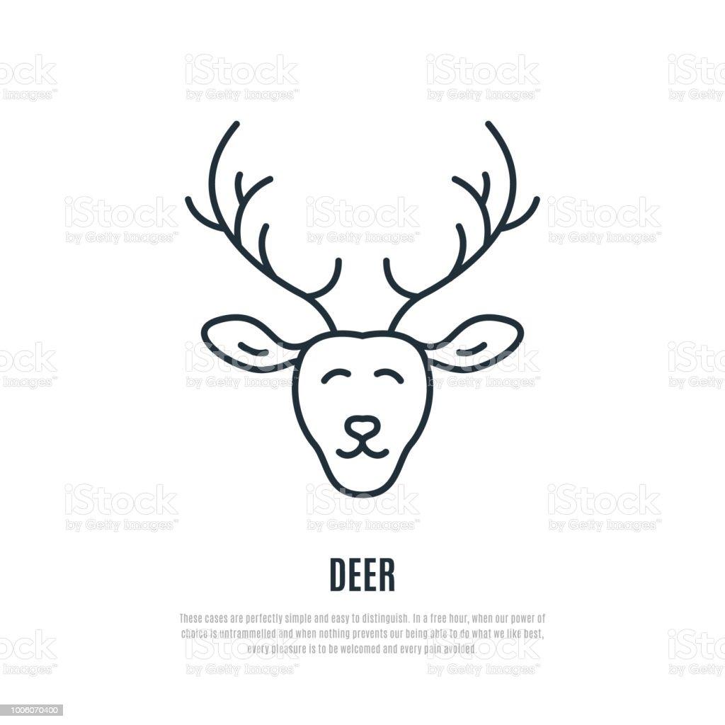 鹿行のアイコン野生動物のシンプルなイラストあなたのデザインのベクトル