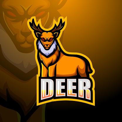 Deer mascot esport emblem design