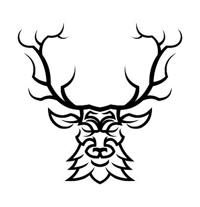 Deer or doe head silhouette