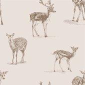 istock Deer Repeat Pattern 469890653