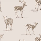 Deer Repeat Pattern