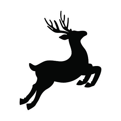 Deer Running And Jumping Illustration - VECTOR