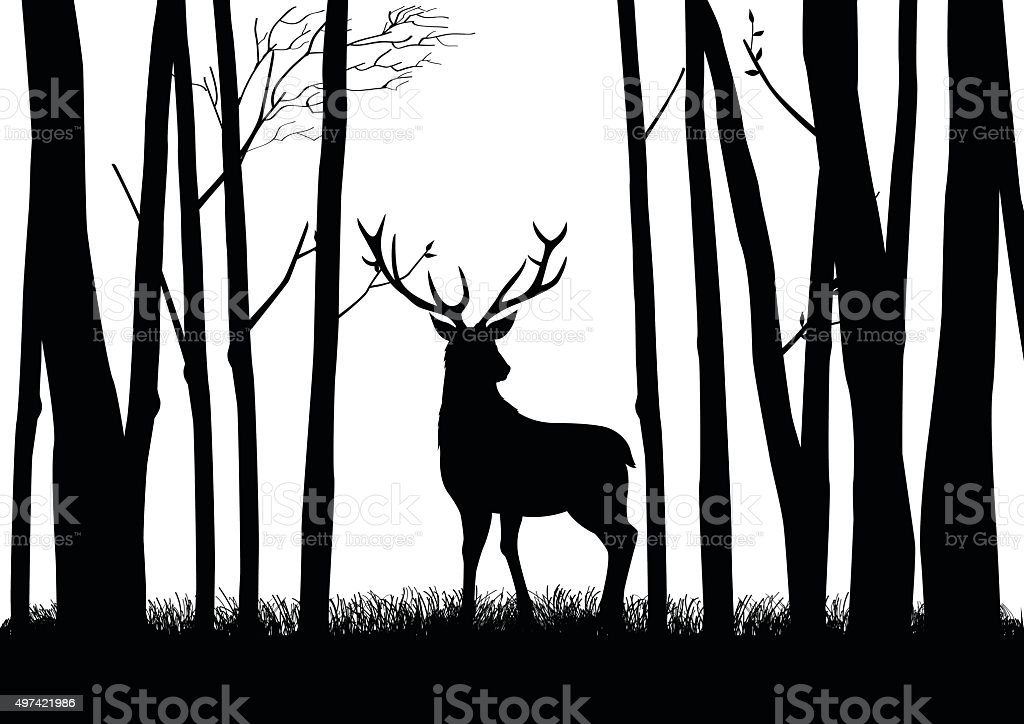 Deer Silhouette Stock Vector Art & More Images of 2015 ...