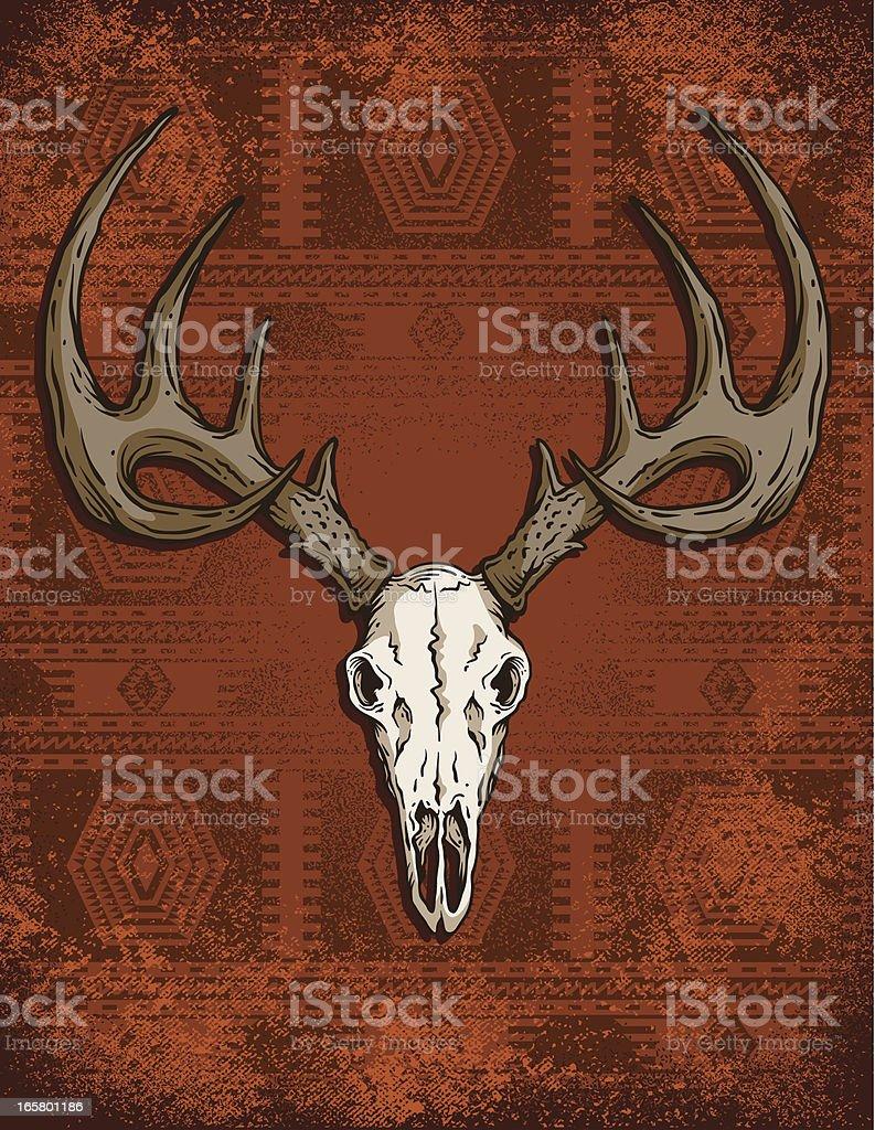 Deer Skull Western royalty-free stock vector art