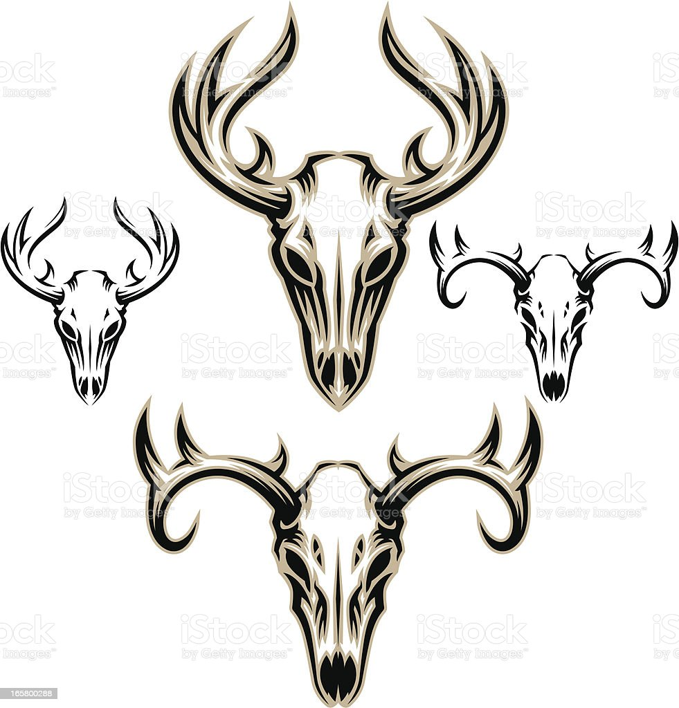 Deer Skulls royalty-free deer skulls stock vector art & more images of animal