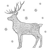 free download of deer head profile vector graphics and