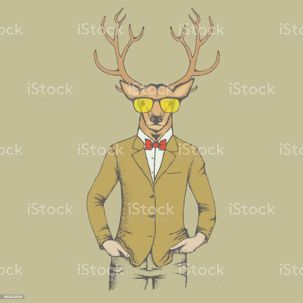 Deer vector illustration vector art illustration