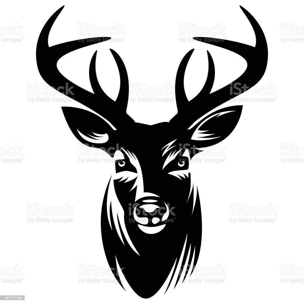royalty free deer head clip art vector images illustrations istock rh istockphoto com buck deer head clip art deer head clip art images
