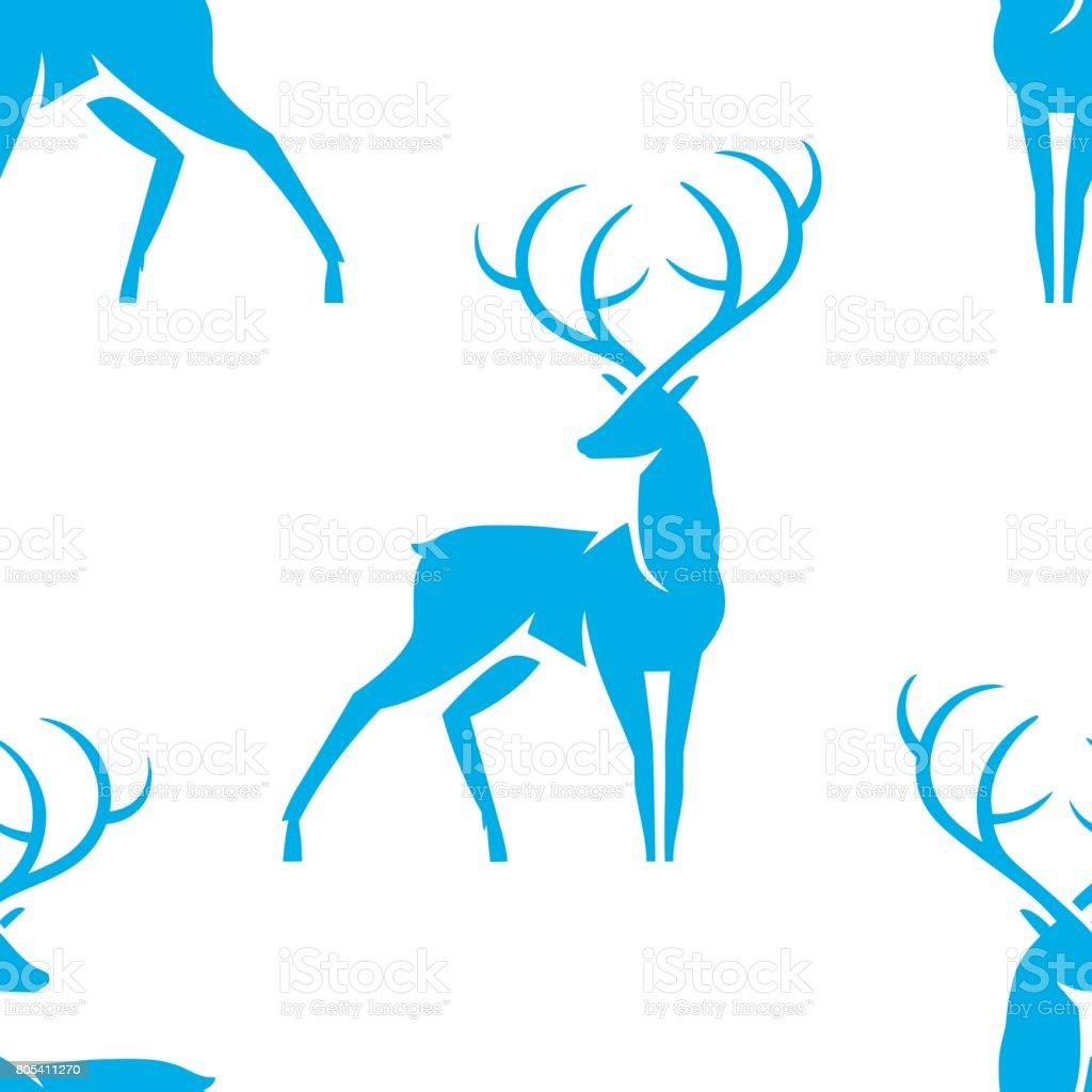 deer_pattern vector art illustration