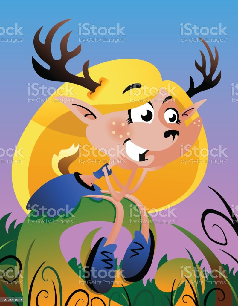 deergirl royalty-free deergirl stock vector art & more images of animal wildlife