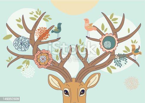 istock Deer's Antlers in Spring 149352509