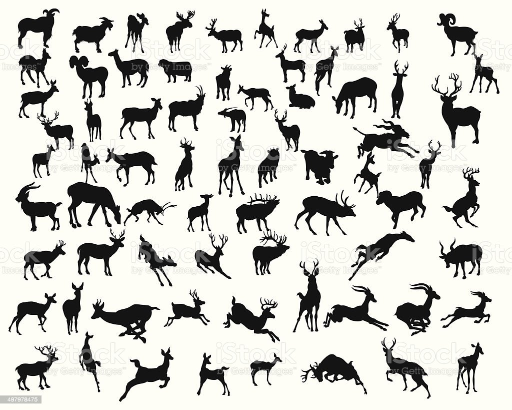 deers collection de silhouettes-Illustration - Illustration vectorielle