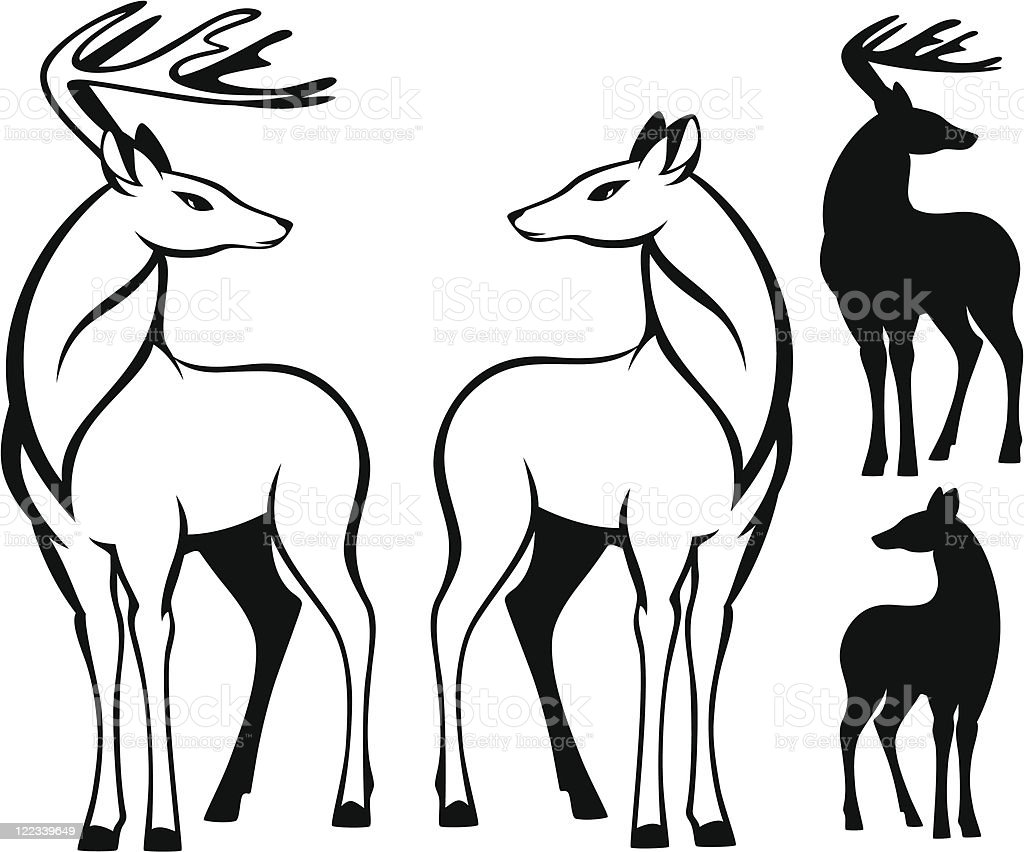 deers - Illustration vectorielle