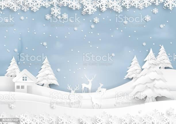 Deers joyful on snow and winter season with urban landscape paper art vector id874837432?b=1&k=6&m=874837432&s=612x612&h= hzspe soaawdsxh0bllmsxwekzckevydccrtg9ewck=