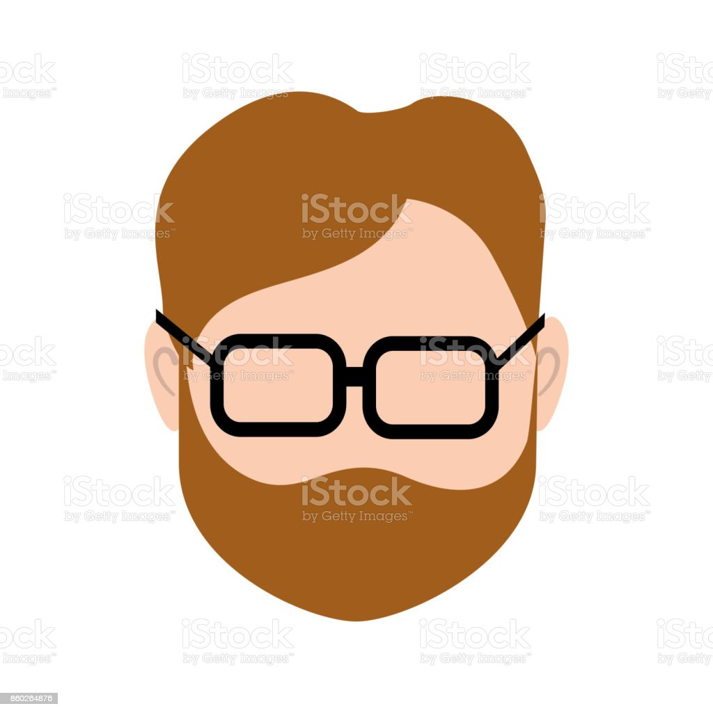 default avatar man to social user vector art illustration