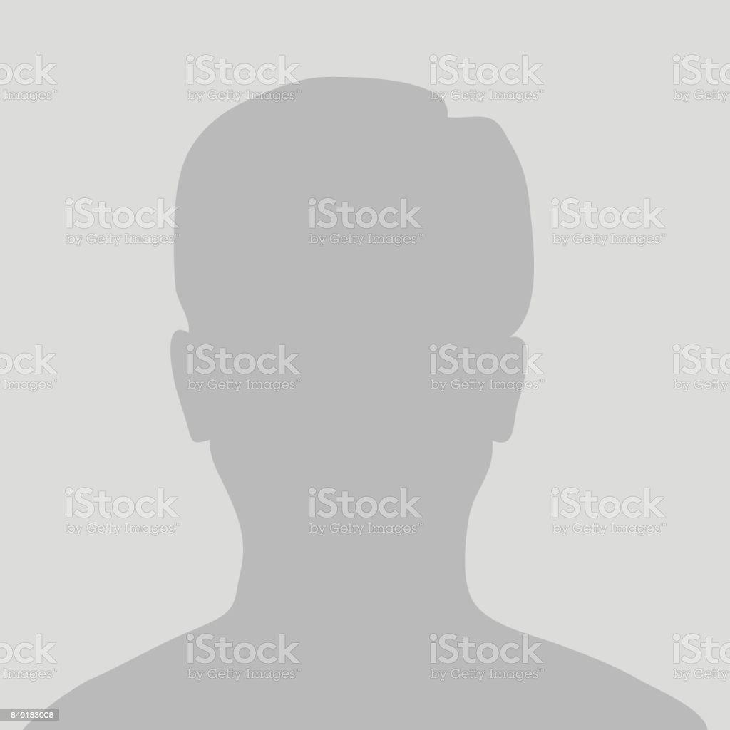Default avatar profile icon. Grey photo placeholder vector art illustration
