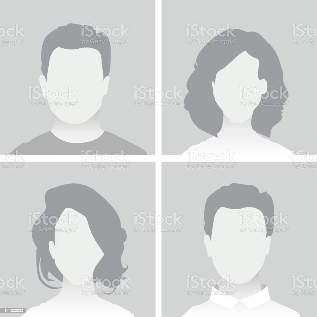 Default Placeholder Man and Woman vector art illustration