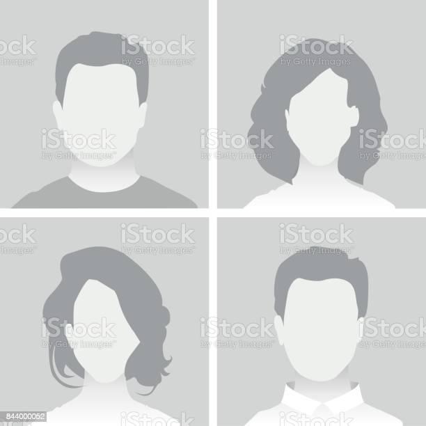 Default Placeholder Man And Woman - Arte vetorial de stock e mais imagens de Adulto