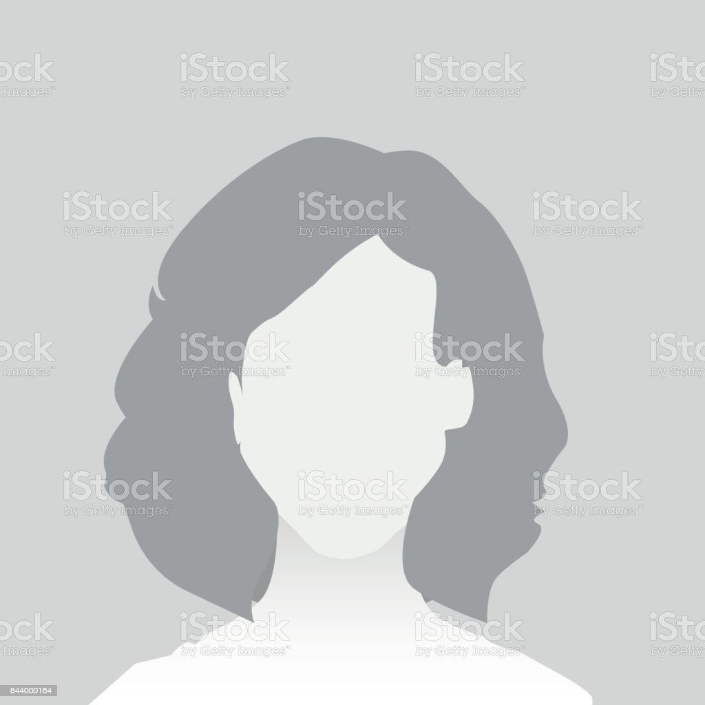 Standard-Platzhalter-Frau - Lizenzfrei Avatar Vektorgrafik