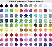 istock Default RGB color palette with color names 646581912