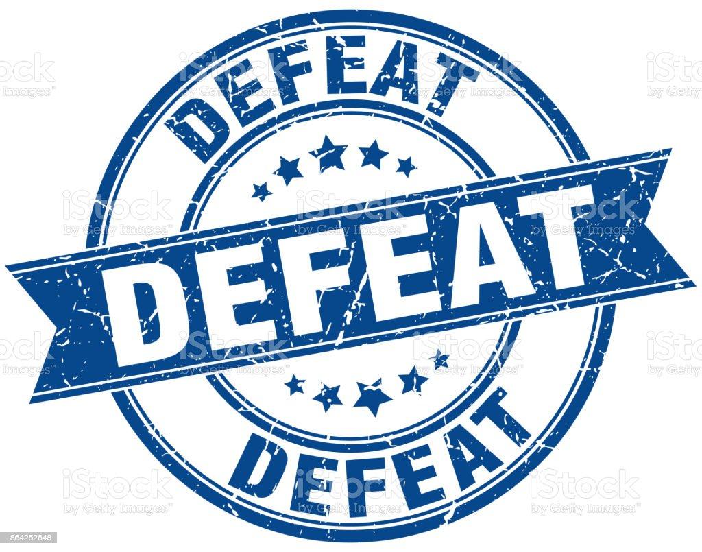 defeat round grunge ribbon stamp royalty-free defeat round grunge ribbon stamp stock vector art & more images of award ribbon