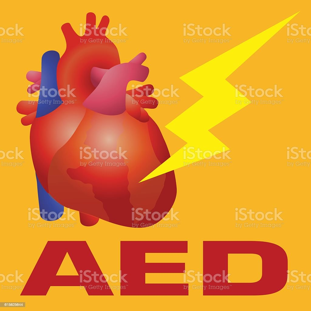 Defibrillator, Automated External Defibrillator (AED) vector art illustration