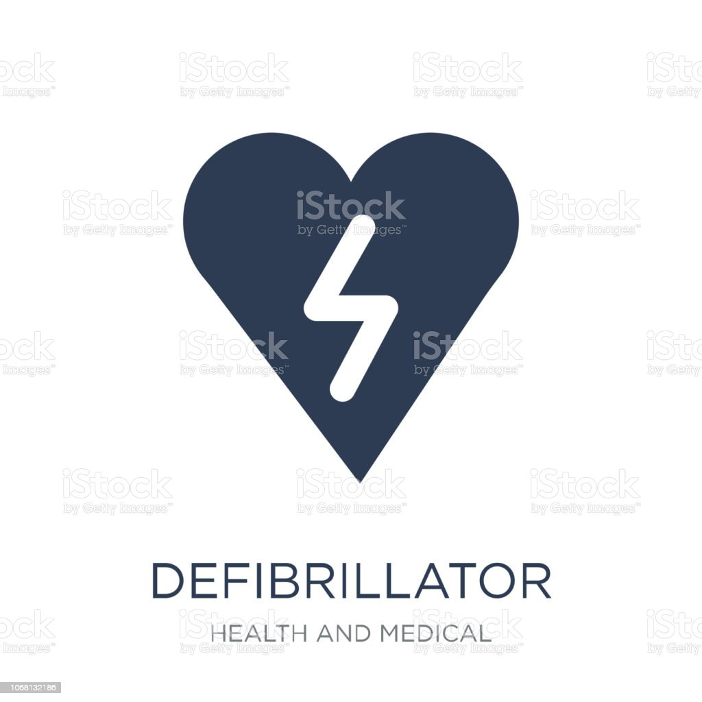 Defibrillator icon. Trendy flat vector Defibrillator icon on white background from Health and Medical collection vector art illustration