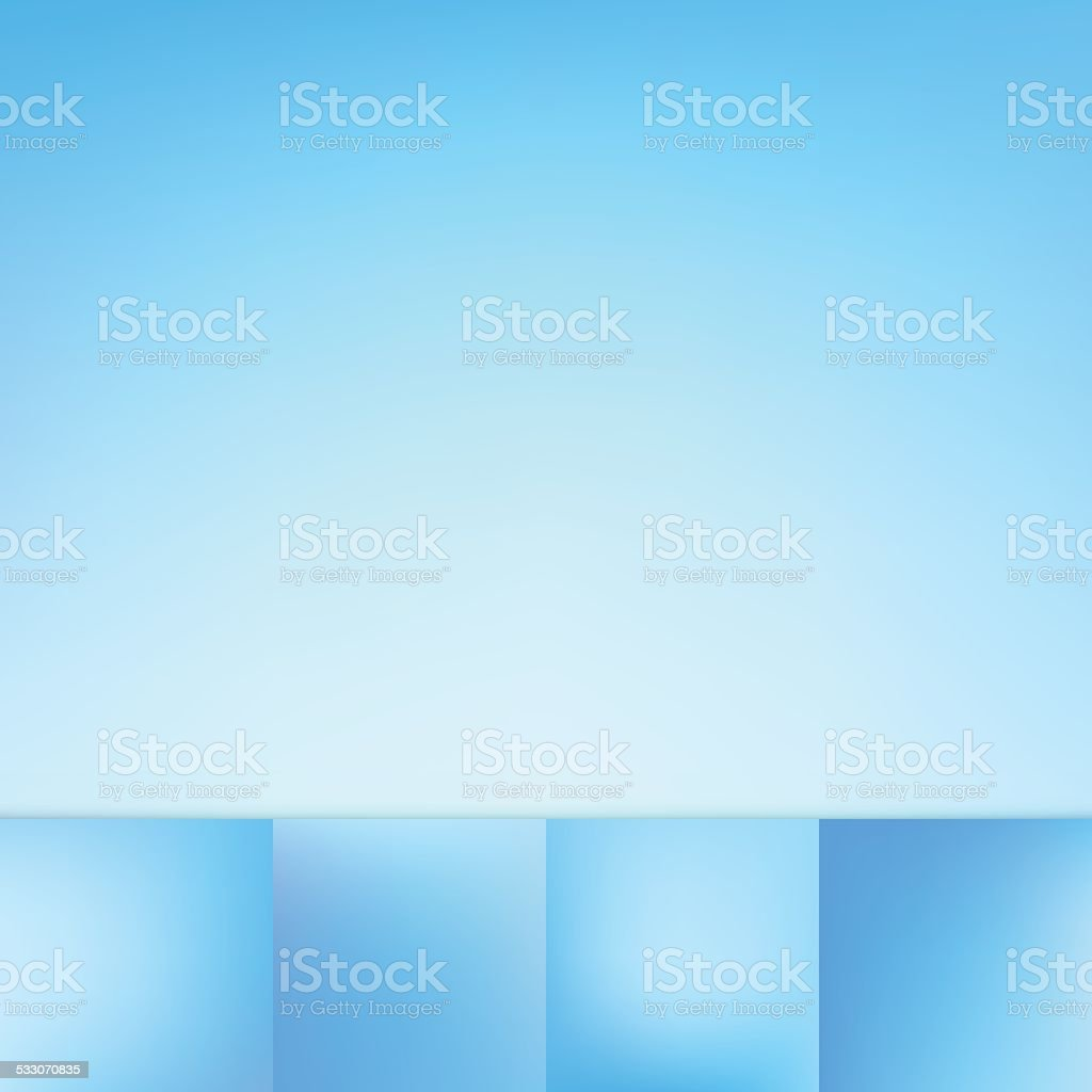 Defocus Blue Color Gradient Vector Background Collection vector art illustration