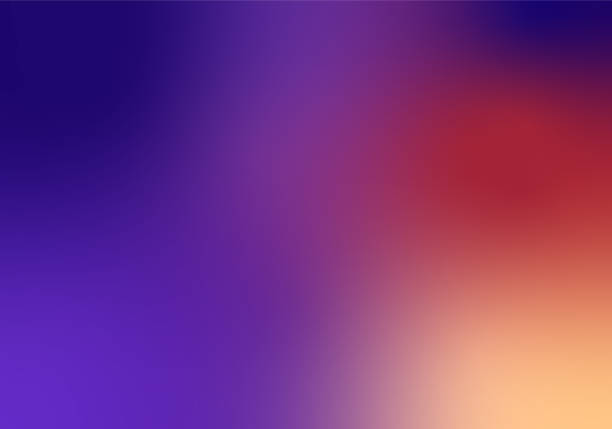 defocused blurred motion abstract background purple red - blue gradient stock illustrations