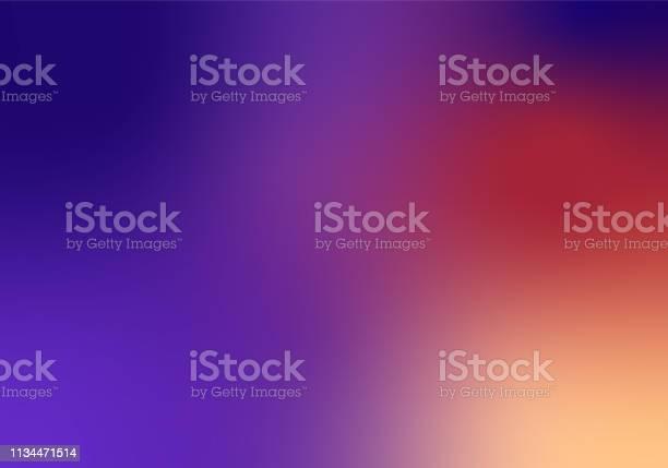 Defocused Blurred Motion Abstract Background Purple Red - Arte vetorial de stock e mais imagens de Abstrato