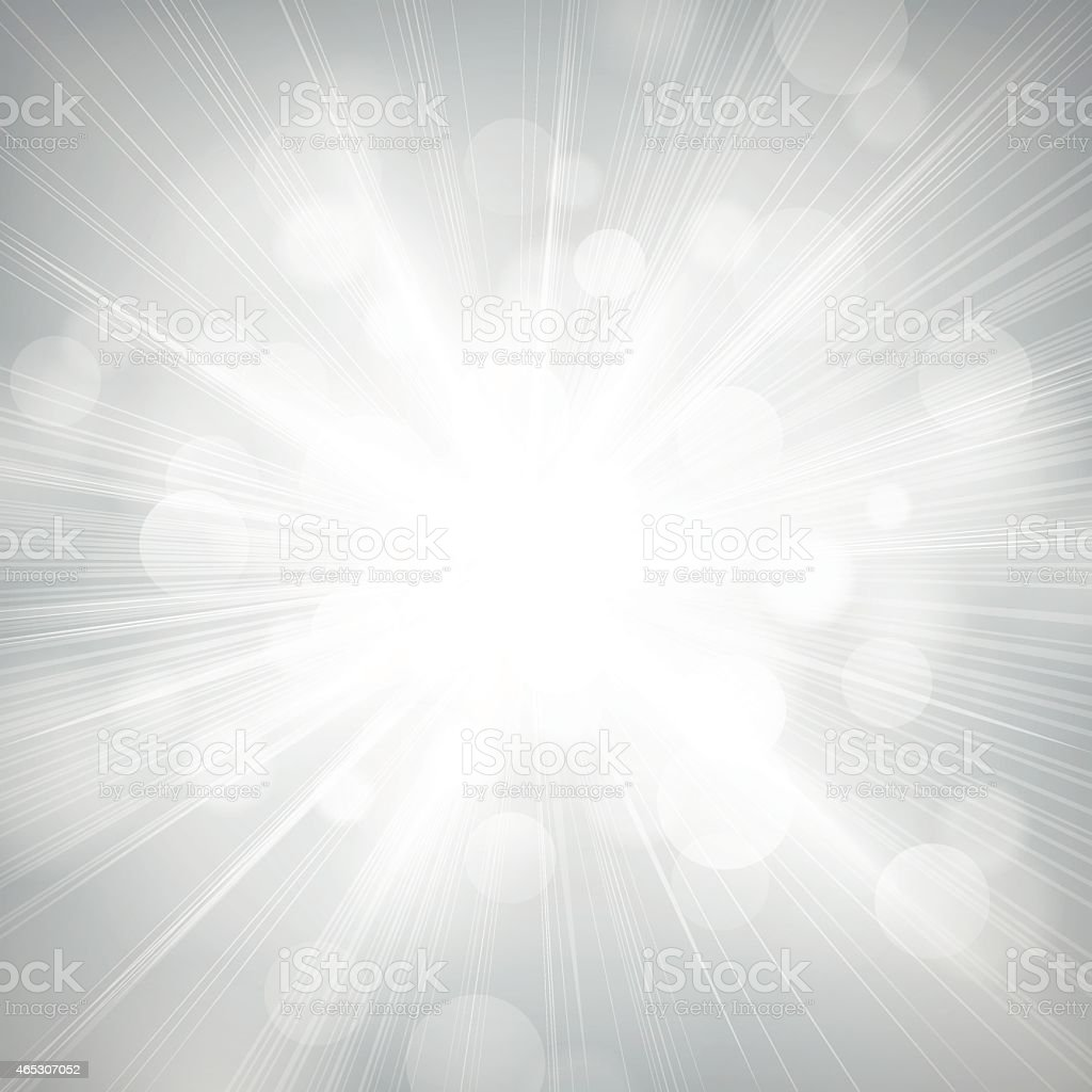 Defocused Lights Burst Background vector art illustration