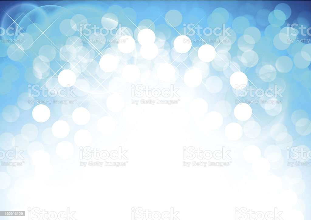 Defocused lights with sparkles and flare effect royalty-free stock vector art