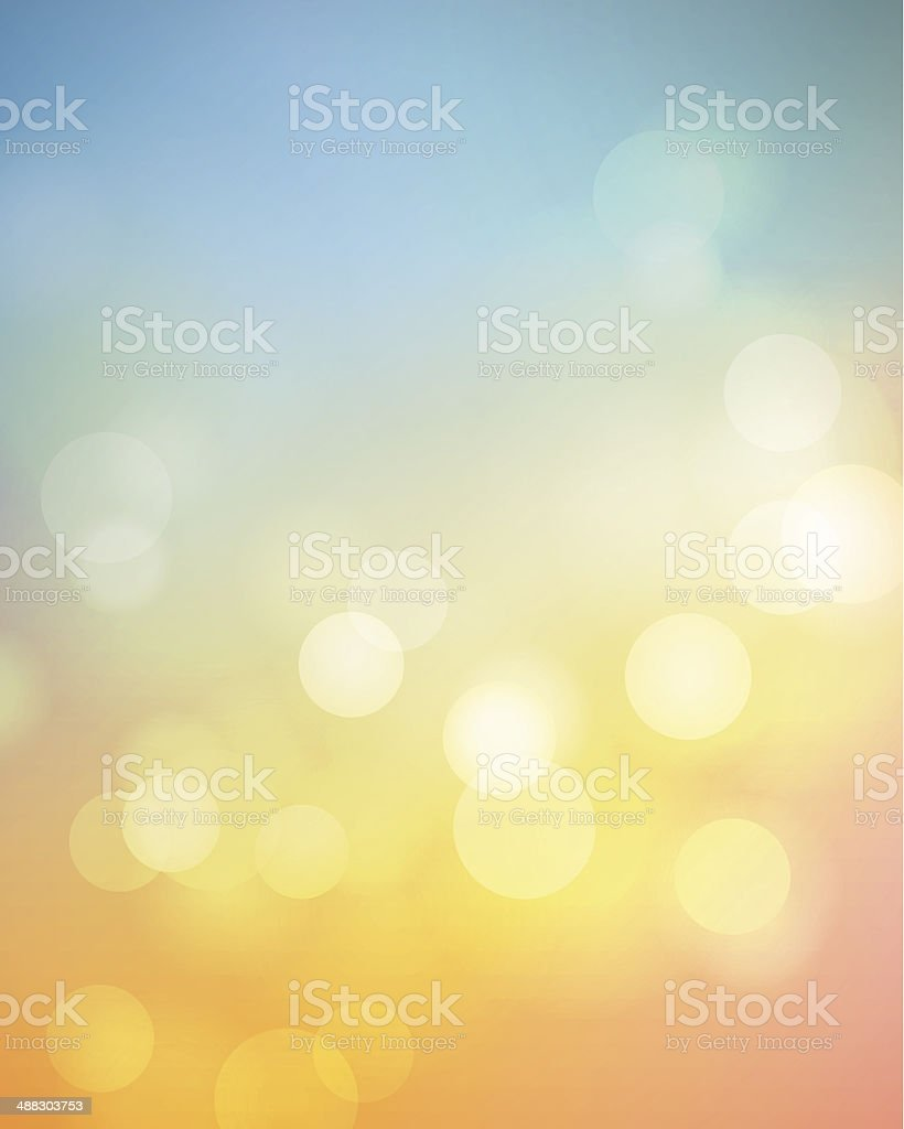 Defocused Summer Background vector art illustration