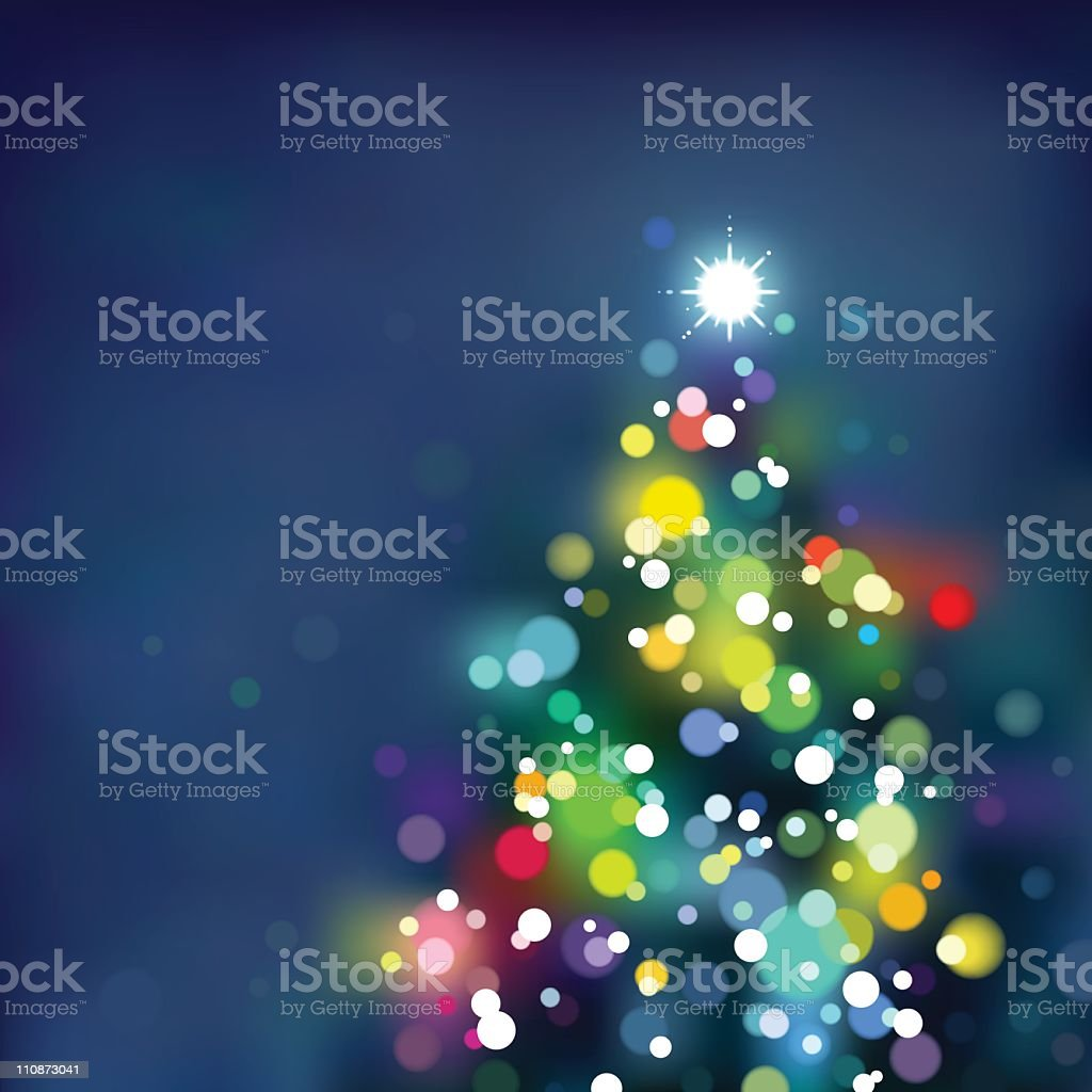 Defocused Xmas tree. EPS8 royalty-free defocused xmas tree eps8 stock illustration - download image now