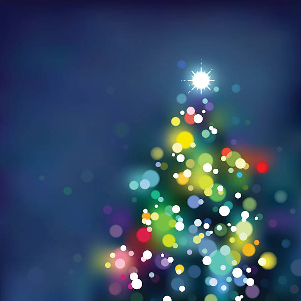 Defocused Xmas tree. EPS8 vector art illustration