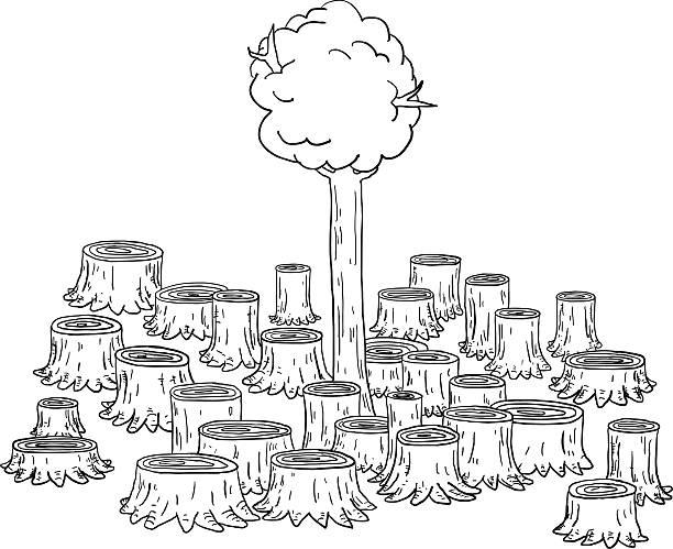 Deforestation Illustrations, Royalty-Free Vector Graphics