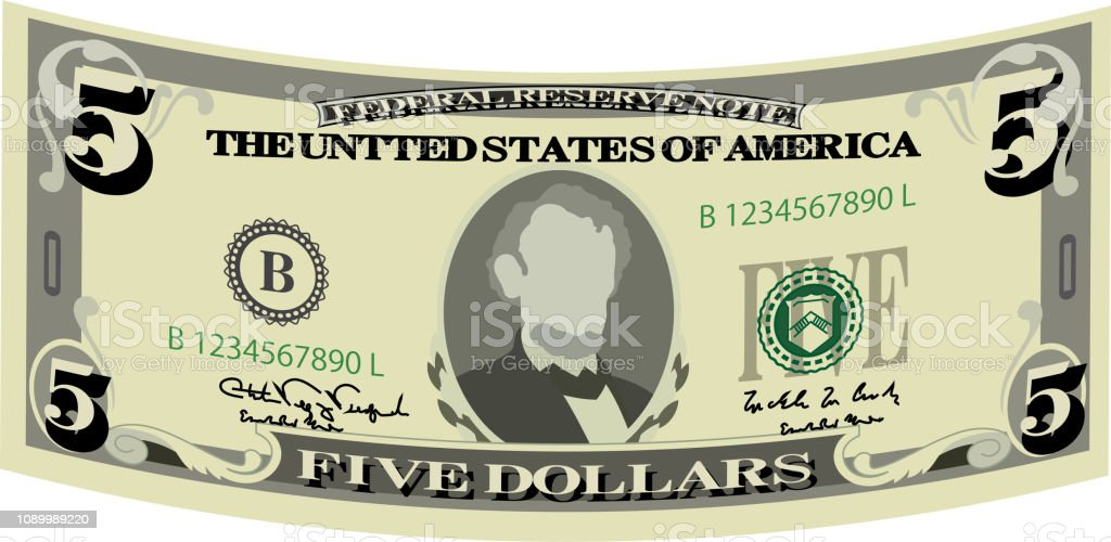 5-Dollar Clip Art
