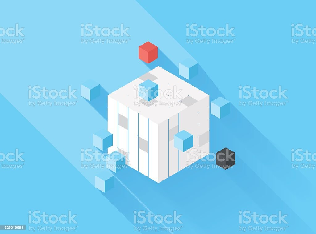 Defragmentation vector art illustration
