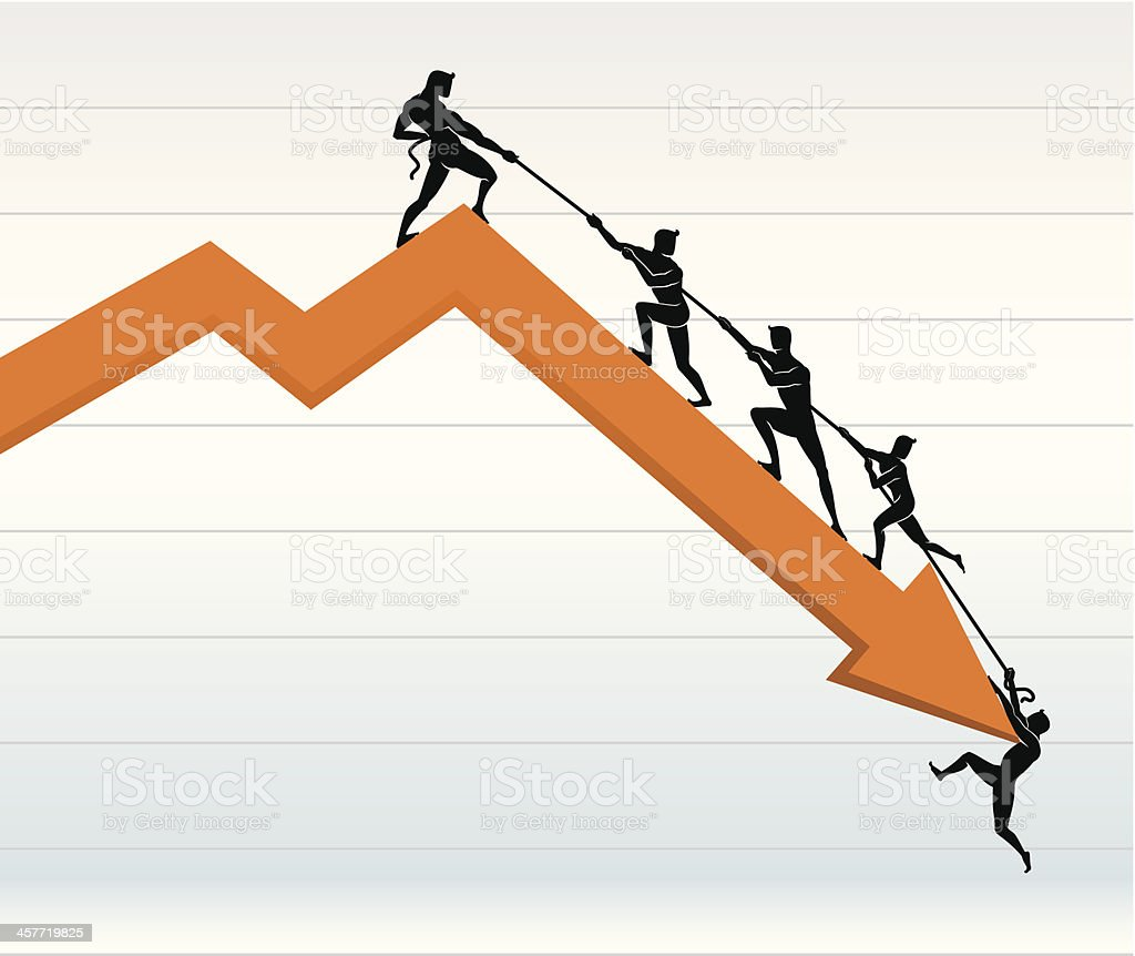 Defying the Odds line graph royalty-free stock vector art