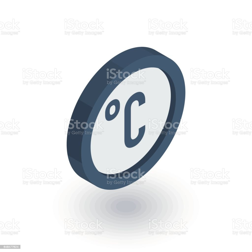 Degree Celsius Isometric Flat Icon 3d Vector Stock Vector Art More