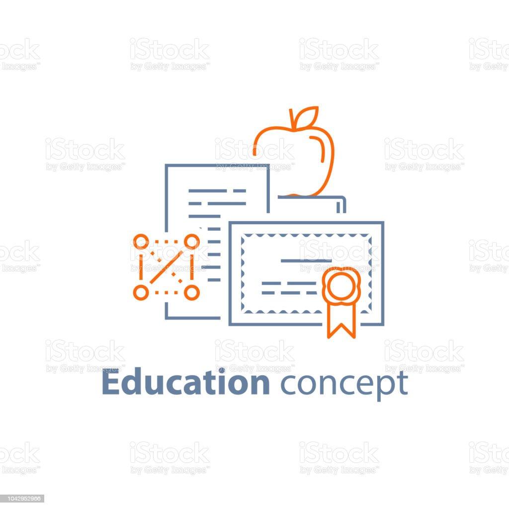 Degree Certificate Education Concept Graduation Diploma