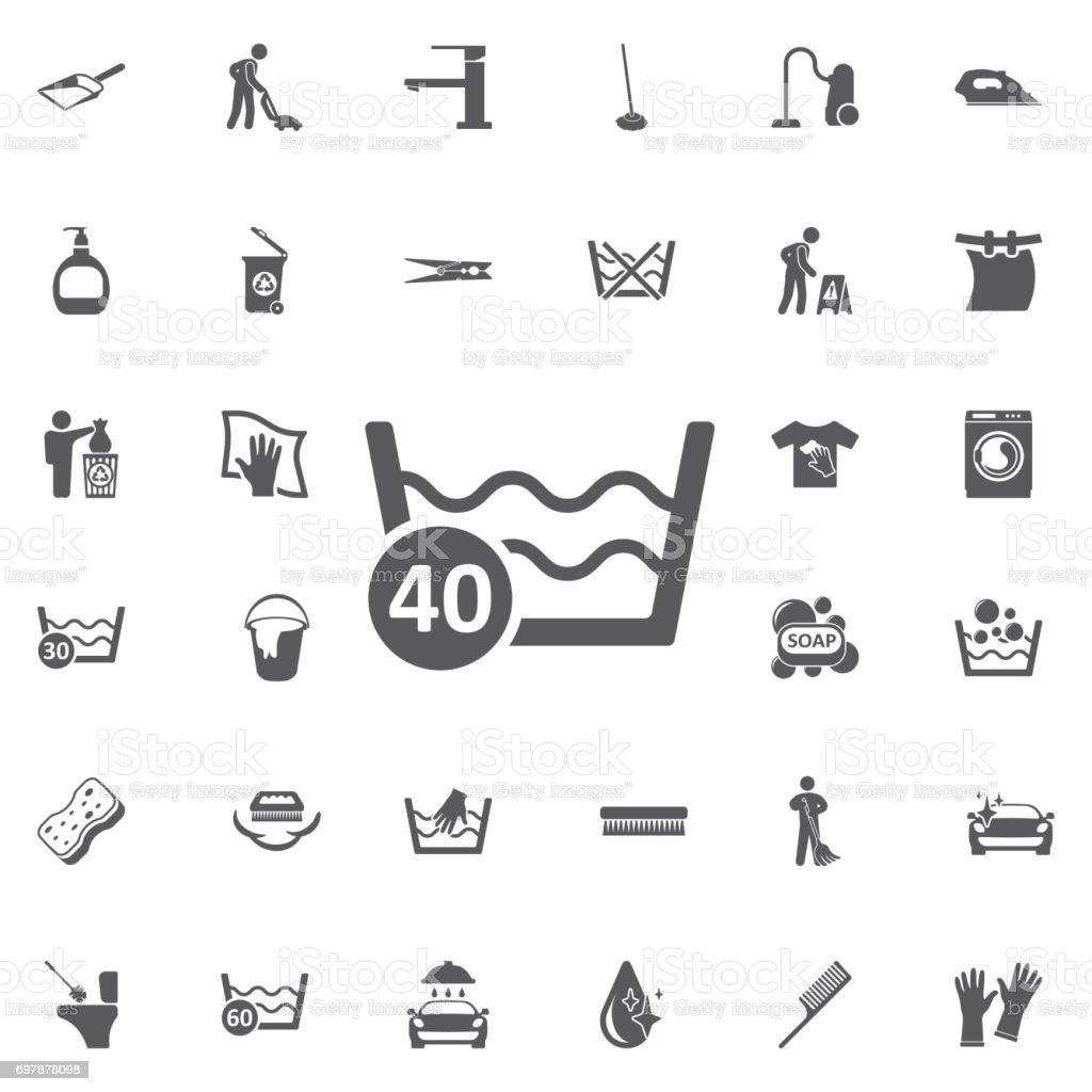 40 degree water vector icon. vector art illustration